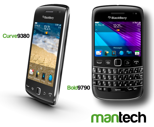 Blackberry Curve 9380 and Bold 9790